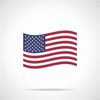 American Flag Vector Icon Waving Clipart Vectors