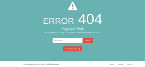 404 Page Template 20 Best Free Responsive Html5 Website Templates 2016