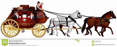 Stagecoach Horse West Horses Coach Carriage Four