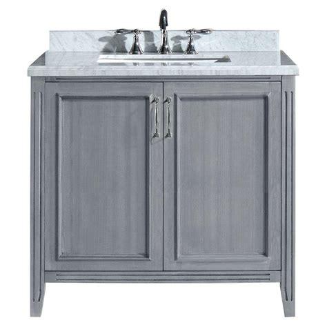 White Vanity With Gray Top by Pegasus 36 In Vanity In Gray With Marble Vanity