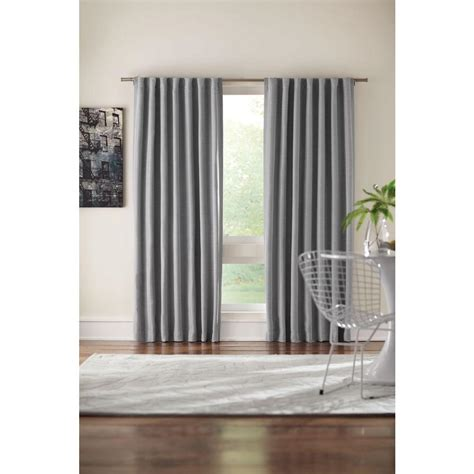 gray room darkening curtains home decorators collection semi opaque gray room darkening