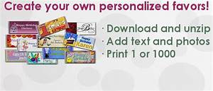 How to make your own mini candy bar wrappers from address for Free printable graduation candy bar wrappers templates
