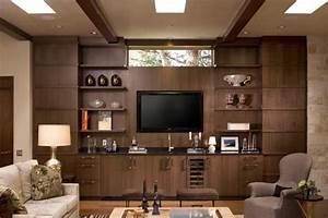 Wohnwand Schwarz Holz : die moderne wohnwand ist praktisch und bietet viel stauraum an ~ Markanthonyermac.com Haus und Dekorationen
