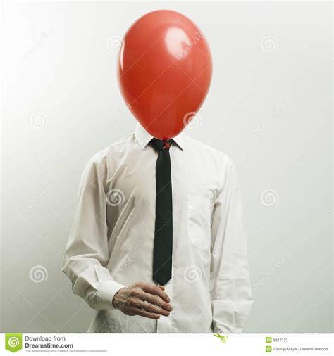 portret bureaumanager met hoofd ballon stock foto 39 s