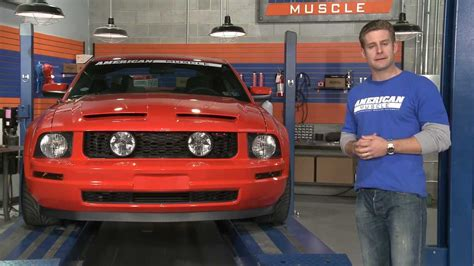 mustang gt style grille w fog lights 05 09 v6 review