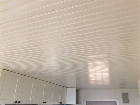 Beadboard For Ceilings : Beadboard Ceiling Install