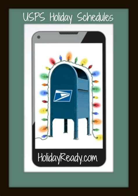 usps holiday schedules