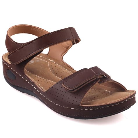 comfortable sandals for walking unze womens nuty comfortable walking sandals uk size 3 8 brown