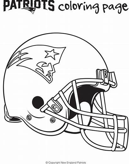 Patriots Coloring Pages England Helmet Printable Football