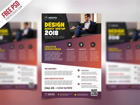 Conference Brochure Templates by Conference Announcement Flyer Psd Template