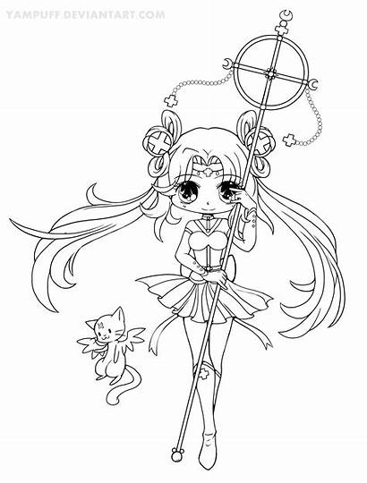 Chibi Coloring Pages Yampuff Sailor Adult Chibis