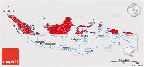 flag  map  indonesia