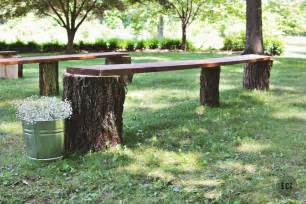 log wedding diy wedding seating rustic log benches ec2blog