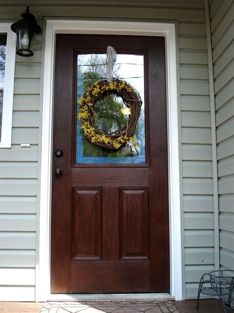 or how to gel stain an embossed fiberglass door remember