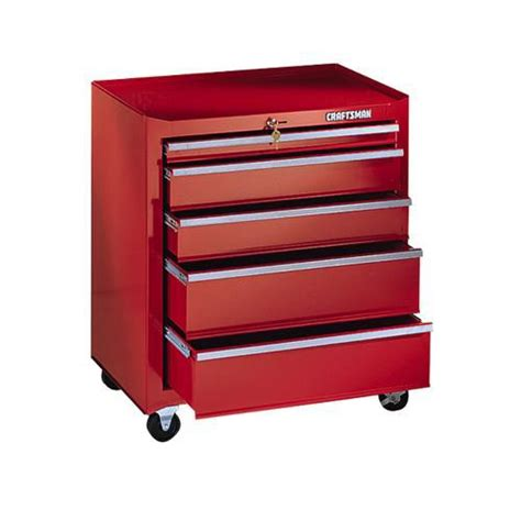 Craftsman 5drawer Roll Away Cabinet, 2612 In Wide