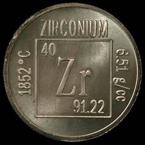 Element Coin  A Sample Of The Element Zirconium In The