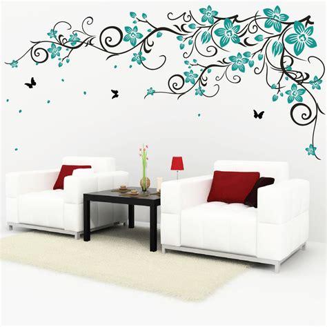 ebay wall decor uk butterfly vine flower vinyl wall stickers 078 ebay