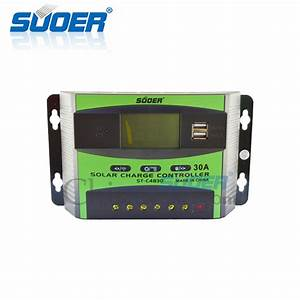 China Suoer 48v 30a Pwm Manual Solar Charge Controller  St