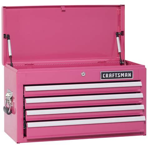 Pink Tool Box Dresser by Craftsman 113298 Closeout 4 Drawer Bearing Top
