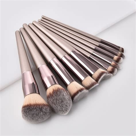 luxury champagne makeup brushes set  foundation powder