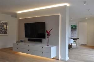 Fernseher An Der Wand : tolle wohnzimmer tv wand ideen die kinderzimmer design ideen ~ Sanjose-hotels-ca.com Haus und Dekorationen