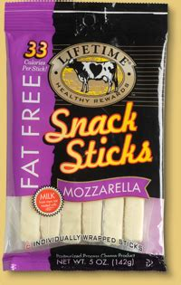 lifetime cheese products fat  sticks mozzarella