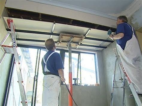 hanging drywall on ceiling plaster how to install metal furring channel ceiling