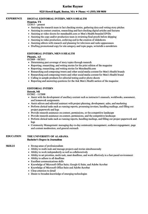 sle resume journalism internship media journalism