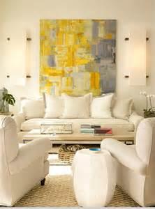 Yellow and Gray Abstract Art