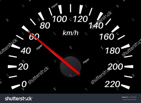 Per Hour by Speedometer 60 Km Per Hour Vector Stock Vector 517974763