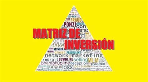 matriz de inversion caracteristicas  funcionamiento