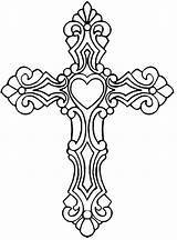 Cross Coloring Pages Ornate Number Rocks Bible Supper Salvation Simple Last sketch template