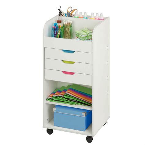 3 drawer storage cart honey can do 3 drawer rolling craft storage cart white