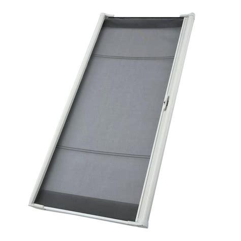 odl 36 in x 78 in brisa white sliding retractable screen