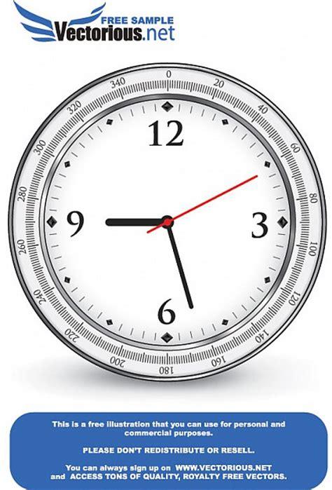 Icône De L'horloge Simple Vecteur Par Vectoriousnet