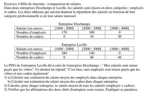 effet de structure comparaison de salaires