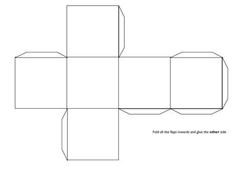 Cube Template 3d Cube Template Teaching Visuals Handouts
