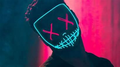 Neon Mask Guy Boy Zedge