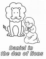 Den Daniel Coloring Lion Pages Lions God Bible Activities Prostrated Lessons Preschool Craft Template Story Crafts Children Netart Sunday Toddler sketch template