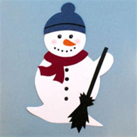 basteln weihnachten tonpapier schneemann aus tonpapier
