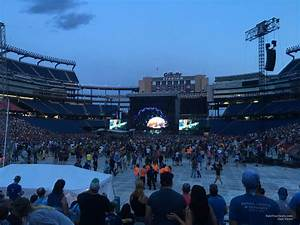 Section 140 At Gillette Stadium For Concerts