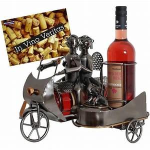 Idee Cadeau Moto : porte bouteille de vin d coratif sculpture en m tal id e cadeau couple sur la moto avec un ~ Melissatoandfro.com Idées de Décoration