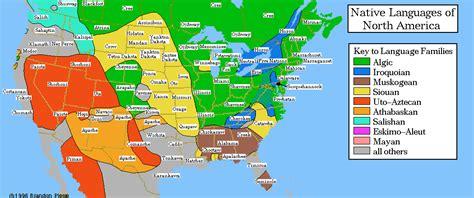 linguistic map  native north america