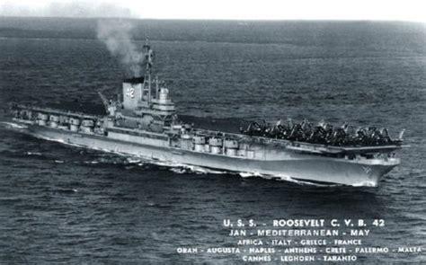 uss franklin  roosevelt cv  deployments history