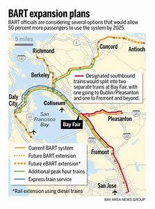 BART expansion plans: Express trains, more frequent ...