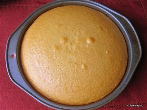 Eggless Yellow Sponge Cake Tamalapaku