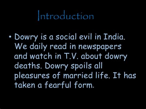 what is a dowry dowry system ppt
