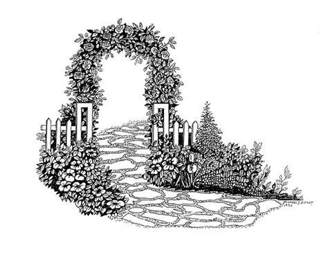 michael pickett artwork rose garden entrance original
