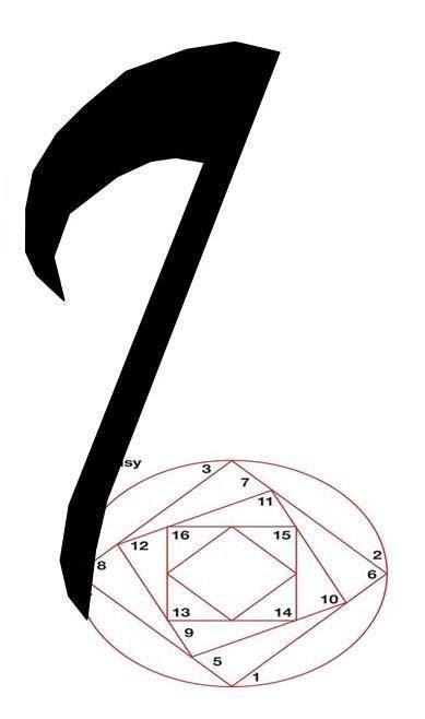 note de musique en iris folding note de musique motif