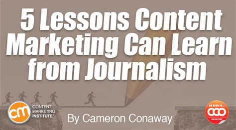 learn marketing 5 lessons content marketing can learn from journalism
